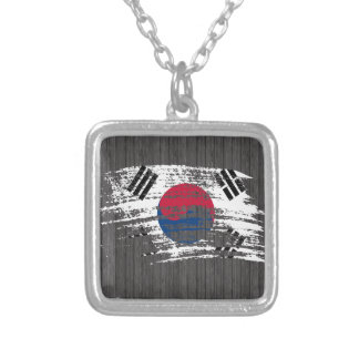 Cool South Korean flag design Silver Plated Necklace