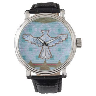 Cool Southwest Geometry With Thunderbird Motif - Watches