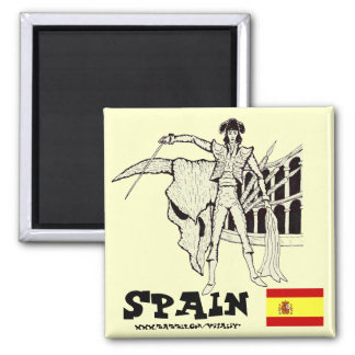 Cool Spain corrida graphic art magnet design