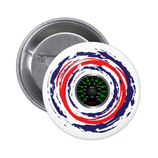 Cool Speed Emblem (Red Blue And White) 1 6 Cm Round Badge
