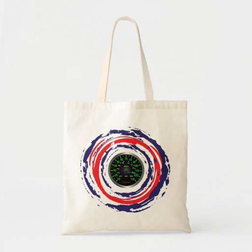 Cool Speed Emblem (Red Blue And White) 1 Tote Bags