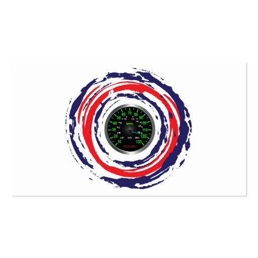 Cool Speed Emblem (Red Blue And White) 1 Business Card