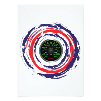 Cool Speed Emblem (Red Blue And White) 1 13 Cm X 18 Cm Invitation Card