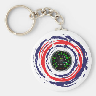 Cool Speed Emblem Red Blue And White 1 Key Chain