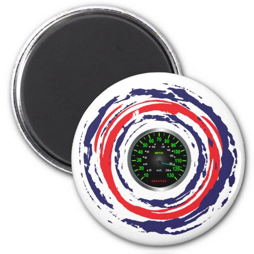 Cool Speed Emblem (Red Blue And White) 1 Fridge Magnets