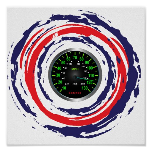 Cool Speed Emblem (Red Blue And White) 1 Print