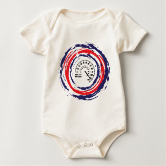 Cool Speed Emblem (Red Blue And White) 2 Baby Bodysuit