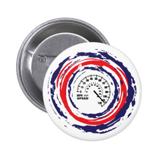 Cool Speed Emblem (Red Blue And White) 2 Pinback Button