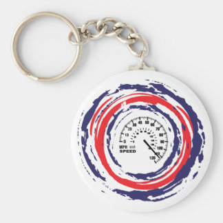 Cool Speed Emblem (Red Blue And White) 2 Basic Round Button Key Ring