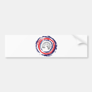 Cool Speed Emblem (Red Blue And White) 2 Bumper Stickers