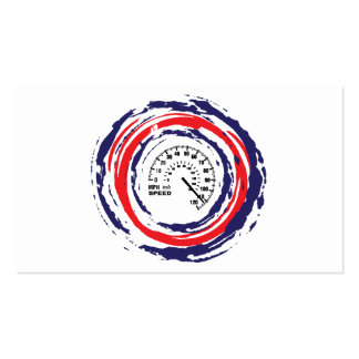 Cool Speed Emblem (Red Blue And White) 2 Business Card Templates
