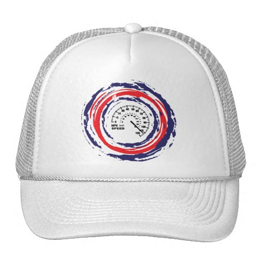 Cool Speed Emblem (Red Blue And White) 2 Mesh Hat