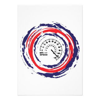 Cool Speed Emblem (Red Blue And White) 2 Invitations