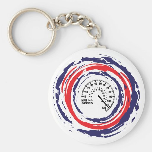 Cool Speed Emblem (Red Blue And White) 2 Keychain