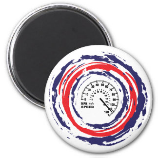 Cool Speed Emblem Red Blue And White 2 Magnets