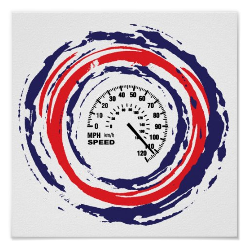 Cool Speed Emblem (Red Blue And White) 2 Posters