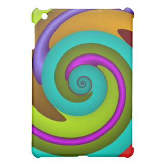 Cool spiral fractal iPad case