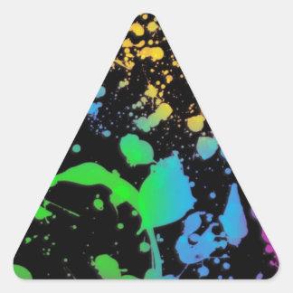 Cool Splatter Deisgn Triangle Sticker