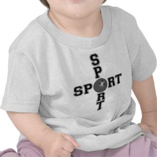 Cool Sport Bowling Cross T Shirt