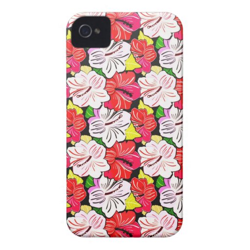 Cool  spring red pink flowers Blackberry case