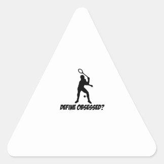 Cool squash designs triangle stickers