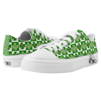 Cool St. Patrick's Day Four-leaf Clover Pattern Low Tops