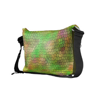 Cool Stained Glass Pattern Messenger Bag