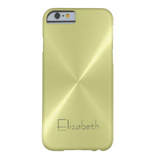Cool Stainless Steel Metal Look Barely There iPhone 6 Case