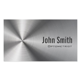 Cool Stainless Steel Optometrist Business Card