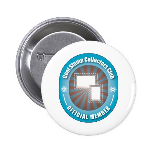 Cool Stamp Collectors Club Buttons