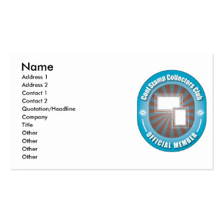 Cool Stamp Collectors Club Business Card