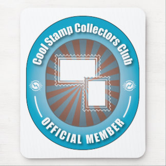 Cool Stamp Collectors Club Mouse Pad