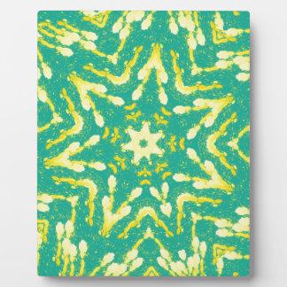 Cool Star Shaped Colorfull Pop Tye Dye Display Plaque