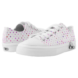 Cool Starburst Pattern Zipz Low Top Shoes/Sneakers