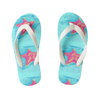 Cool Starfish in Teal Waters setting Thongs
