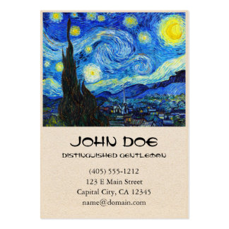 Cool Starry Night Vincent Van Gogh painting Pack Of Chubby Business Cards