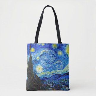Cool Starry Night Vincent Van Gogh painting Tote Bag