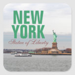 Cool Statue of Liberty - NY New York Square Stickers
