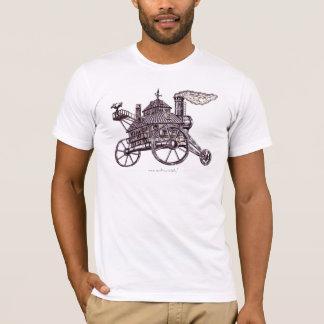 Cool steam engine house graphic art t-shirt