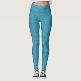 Cool Steel Blue Dab Leggings