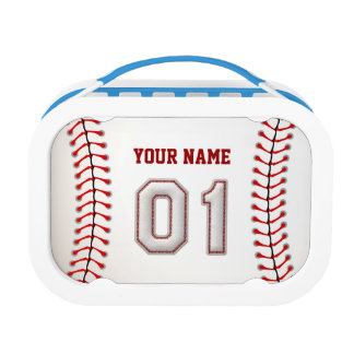 Cool Stitched Baseball Number 1 Lunch Box