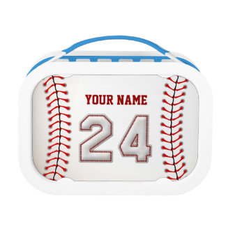 Cool Stitched Baseball Number 24 Lunch Box