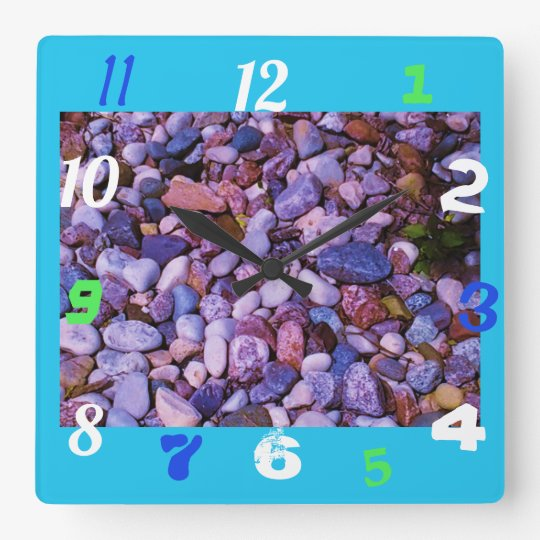 Cool Stones Square Wall Clock