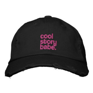 cool story babe embroidered cap