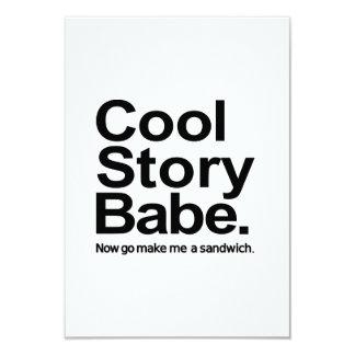Cool story babe custom invites