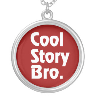 Cool Story Bro. 2 Round Pendant Necklace