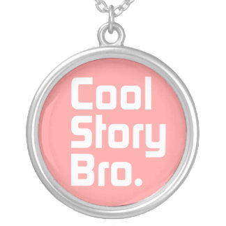 Cool Story Bro. 4 Round Pendant Necklace