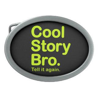 Cool Story Bro. Customizable Background Buckle Belt Buckles