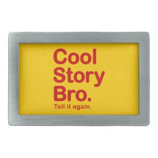Cool Story Bro. Customizable Background Buckle Rectangular Belt Buckles