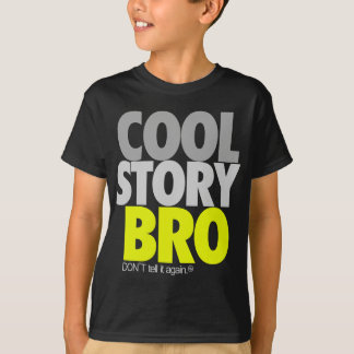 """Cool Story Bro"" (Lime) T-Shirt"